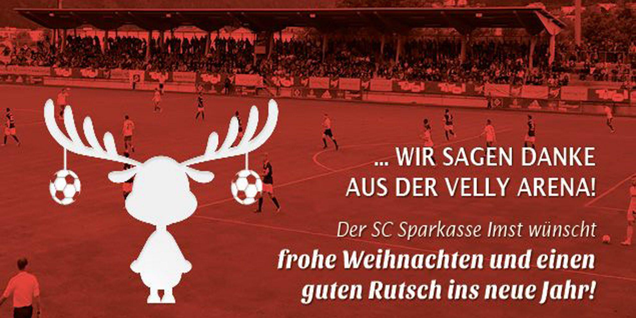 Wir sagen Danke aus der Velly Arena Imst Tirol! Frohe Weihnachten und guten Rutsch ins Jahr 2020!